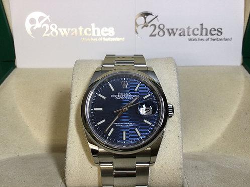 Brand new Rolex Datejust 126200-0022 Blue Fluted 全新 - 銅鑼灣店