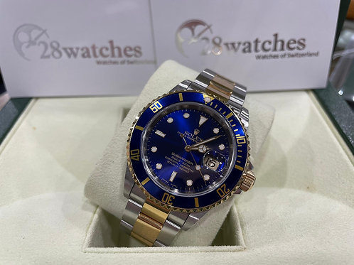 Pre-Owned Rolex Submariner Date 16613LB 二手,停產,齊格 - 尖沙咀店