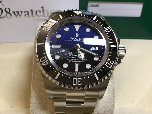 Pre-Owned Rolex Sea-Dweller Deepsea 126660 未用品行貨,AD發票- 銅鑼灣店