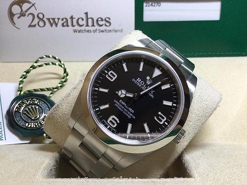 Pre-Owned Rolex Explorer 214270,行貨,AD發票,停產 - 銅鑼灣店