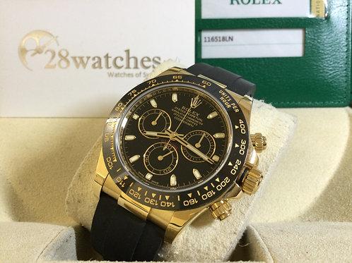 Pre-Owned Rolex Daytona 116518LN Black 二手 - 銅鑼灣店