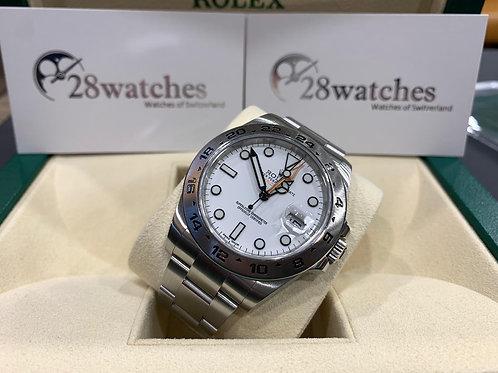 Pre-Owned Rolex Explorer II 216570 二手行貨,AD發票,亂碼,內影,停產,齊格,藍光,齊吊牌 - 尖沙咀店