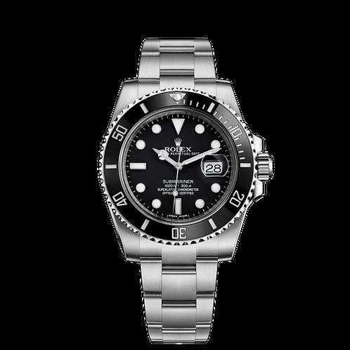 Rolex Submariner Date 116610LN-0001, 蠔式鋼錶殼, 60分鐘刻度陶質字圈, 黑色錶面.