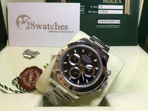 Pre-Owned Rolex Daytona 116520 BLK 二手 - 銅鑼灣店