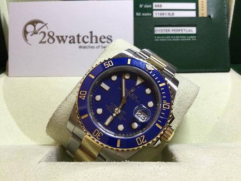Pre-Owned Rolex Submariner Date 116613LB 二手行貨,停產,V頭  - 銅鑼灣店