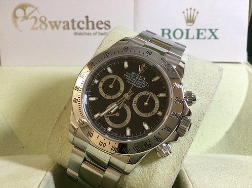 Pre-Owned Rolex Daytona 116520 BLK 二手行貨,停產   - 銅鑼灣店