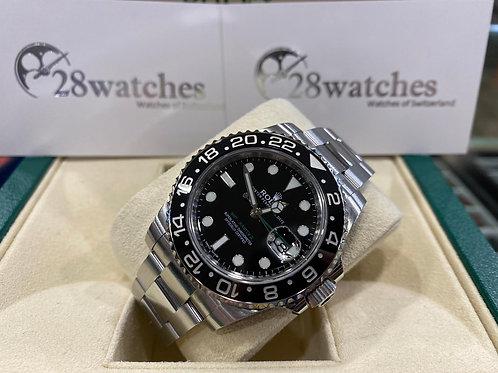 Pre-Owned Rolex GMT-Master II 116710LN 二手行貨,亂碼,內影,停產,藍光,齊吊牌  - 尖沙咀店