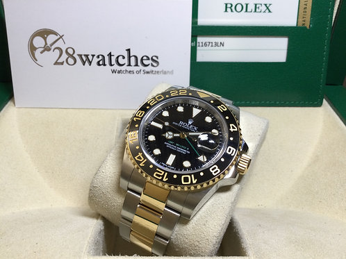 Pre-Owned Rolex GMT-Master II 116713LN 二手行貨,亂碼,內影,齊格,藍光 - 銅鑼灣店