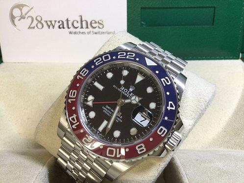 Pre-Owned Rolex GMT-Master II 126710BLRO 二手行貨,新保卡,五年保養,亂碼,藍光,今年錶,百事 - 銅鑼灣店