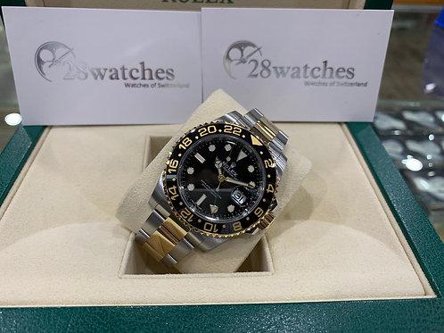 Pre-Owned Rolex GMT-Master II 116713LN 二手行貨,五年保養,部份膠紙,亂碼,內影,停產,齊格,藍光 - 尖沙咀店