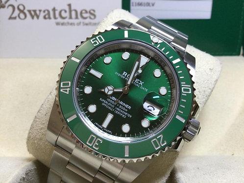 NOS Rolex Submariner Date 116610LV 二手,未用品,五年保養,內影,藍光,未改帶 - 銅鑼灣店