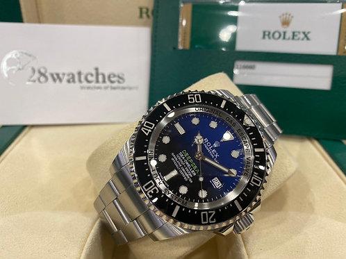【尖沙咀店】二手 Rolex Sea-Dweller Deepsea 116660 blue「行貨」「五年保養」「亂碼」「內影」「齊格」「藍光」「停產」
