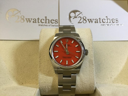 Brand New Rolex Oyster Perpetual 277200 Red 全新 NXW163 - 銅鑼灣店
