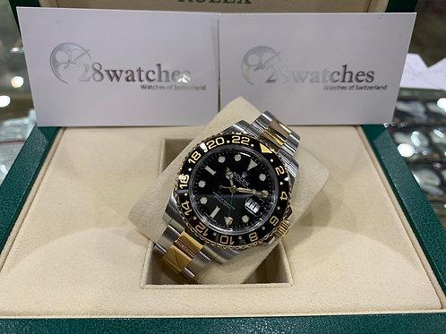 Pre-Owned Rolex GMT-Master II 116713LN 二手行貨,亂碼,內影,停產,齊格,藍光 - 尖沙咀店