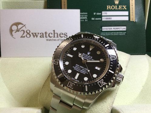 Pre-Owned Rolex Sea-Dweller Deepsea 116660 Black 二手,亂碼 - 銅鑼灣店