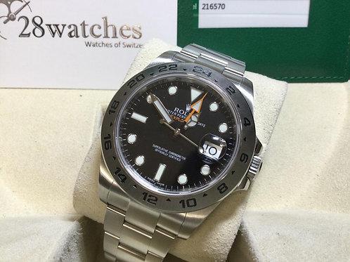 Pre-Owned Rolex Explorer II 216570 BLK 二手,保養中,停產 - 銅鑼灣店