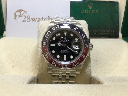 NOS Rolex GMT-Master II 126710BLRO 未用品,五年保養,保養中,亂碼,齊格,藍光- 銅鑼灣店