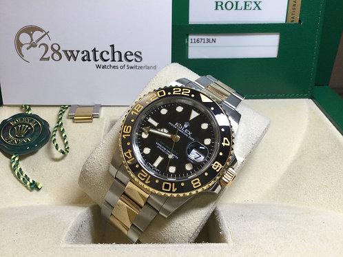 Pre-Owned Rolex GMT-Master II 116713LN 二手行貨,AD發票,亂碼,內影,停產,齊格,藍光 - 銅鑼灣店