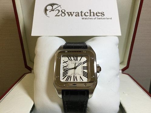 Pre-Owned Cartier Santos 100 W20106X8 二手 - 銅鑼灣店
