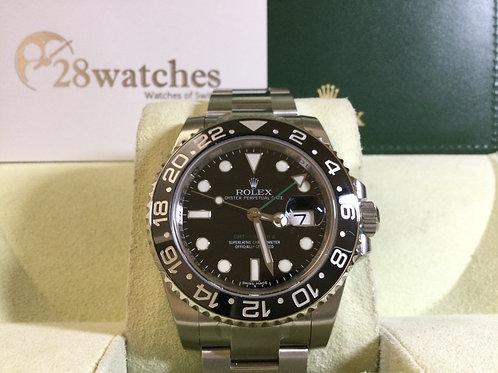 NOS Rolex GMT-Master II 116710LN 行貨  AD發票 齊膠紙 停產 未改帶- 銅鑼灣店