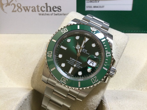 Pre-Owned Rolex Submariner Date 116610LV 二手,停產  - 銅鑼灣店