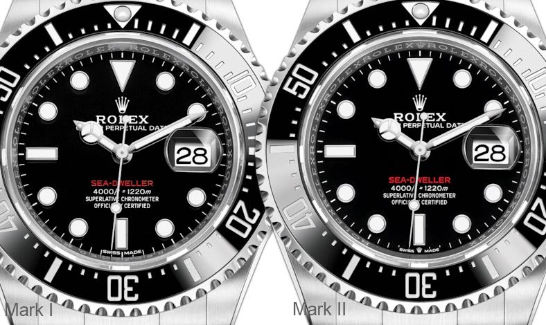 Sea-Dweller 126600 Mark I Mark II