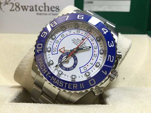 Pre-Owned Rolex Yacht-Master II 116680 White 二手行貨 - 銅鑼灣店