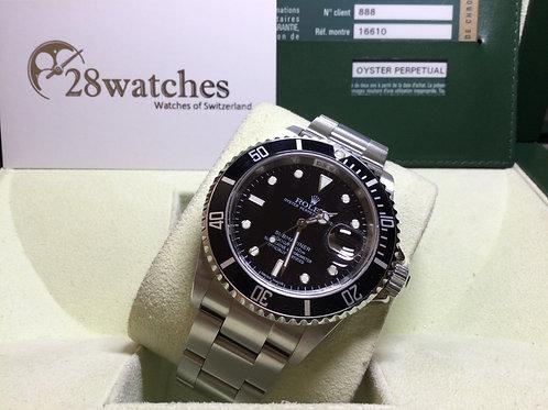 Pre-Owned Rolex Submariner Date 16610LN 二手行貨,停產,尾期,內影,齊格,M頭 - 銅鑼灣店