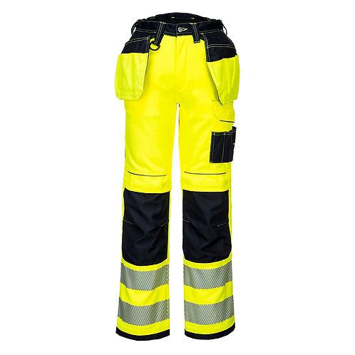 PW Warnschutz Arbeitshose mit Hängetaschen