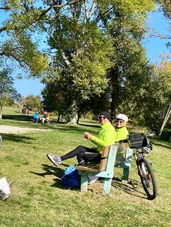 Dimanche 18-10-20 Moment du pique-nique à La Roche de Glun