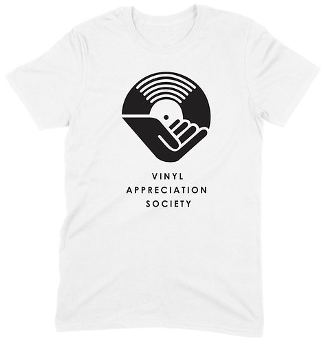 Vinyl Appreciation Society T-Shirt - LARGE / WHITE / ORGANIC STANDARD WEIGHT