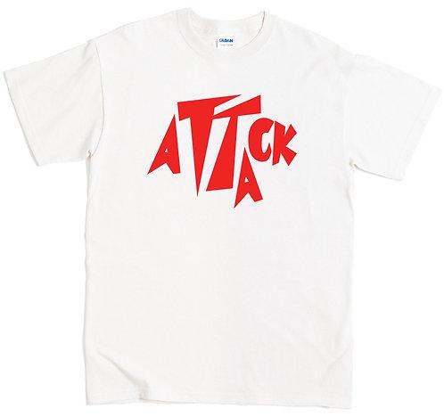 Attack Records T-Shirt - MEDIUM / WHITE / LIGHTWEIGHT