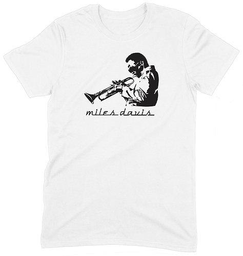 Miles Davis T-Shirt - 2XL / WHITE / PREMIUM WEIGHT