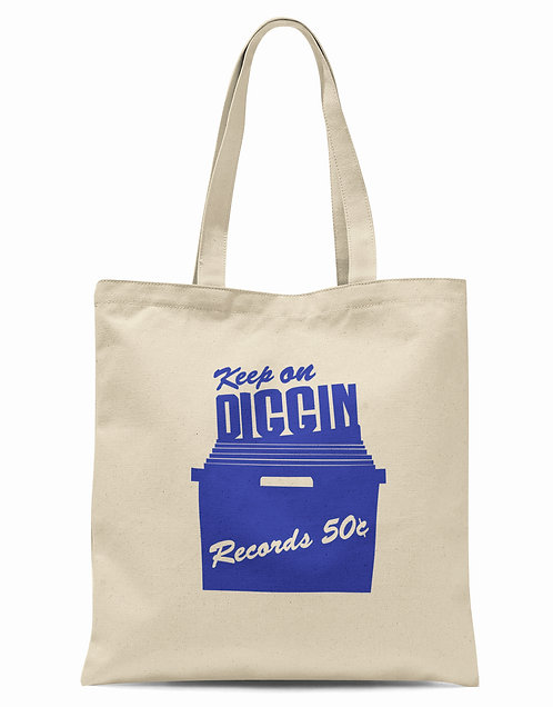 Keep On Diggin' Organic Cotton Tote Shopper Bag