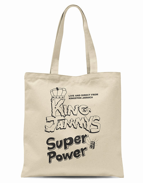 King Jammy's Super Power Organic Cotton Tote Shopper Bag