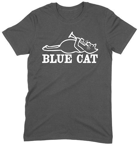 Blue Cat T-Shirt - LARGE / CHARCOAL / STANDARD WEIGHT