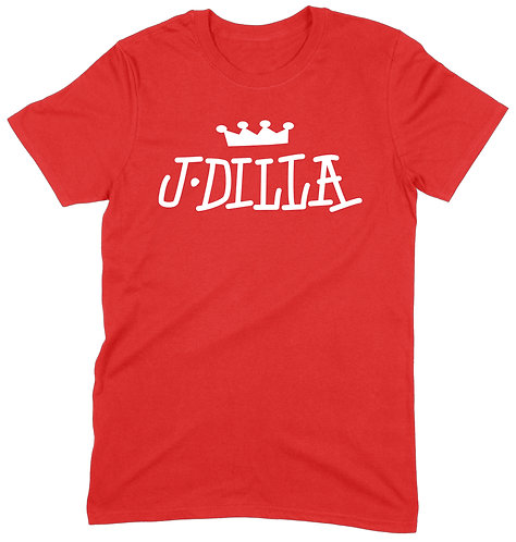 J Dilla T-Shirt - MEDIUM / RED / PREMIUM WEIGHT