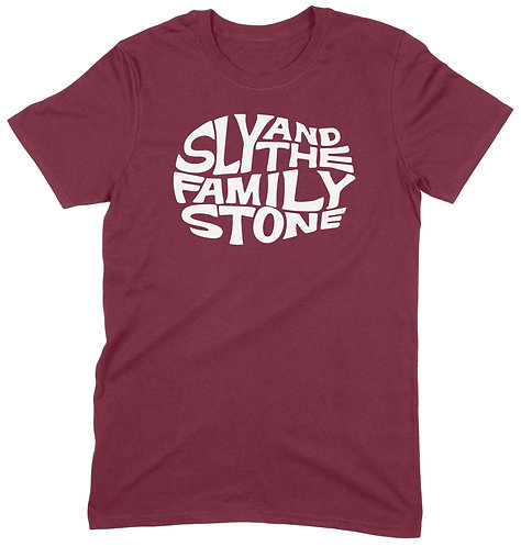 Sly Stone T-Shirt - XL / MAROON / ORGANIC STANDARD WEIGHT