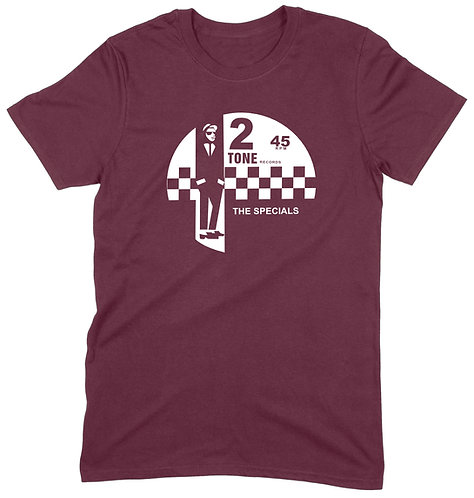 2 Tone T-Shirt - LARGE / MAROON / ORGANIC STANDARD WEIGHT
