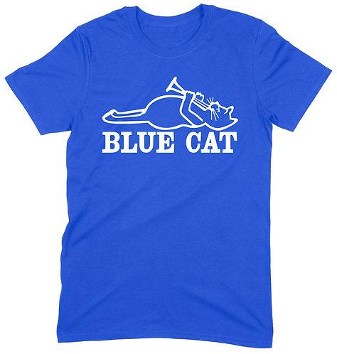 Blue Cat T-Shirt - XL / ROYAL BLUE / ORGANIC STANDARD WEIGHT
