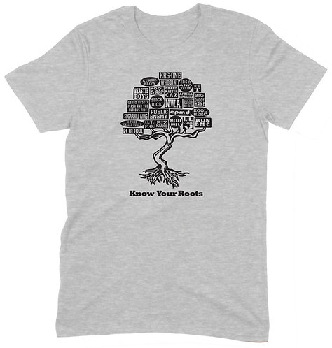 Know Your Roots T-Shirt - XL / SPORTS GREY / ORGANIC STANDARD WEIGHT