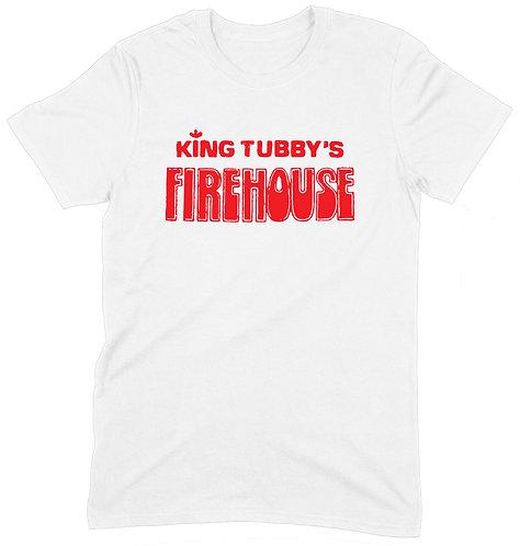 King Tubby's Firehouse T-Shirt - MEDIUM / WHITE / HEAVYWEIGHT