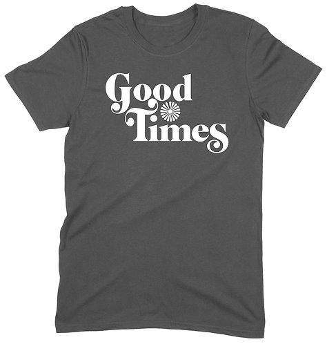 Good Times T-Shirt - LARGE / CHARCOAL / ORGANIC STANDARD WEIGHT