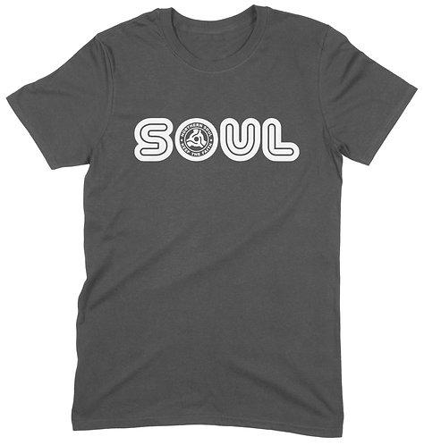 Soul 45 T-Shirt - LARGE / CHARCOAL / ORGANIC STANDARD