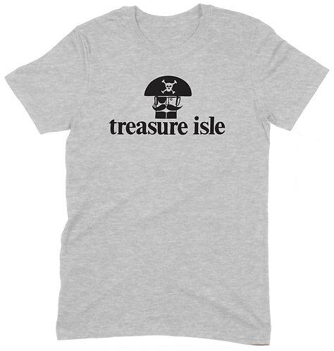 Treasure Isle Pirate T-Shirt - XL / GREY MARL / ORGANIC STANDARD WEIGHT