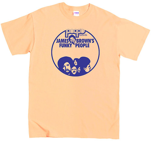 James Brown's People Recs T-Shirt - SMALL / YELLOW / LIGHTWEIGHT