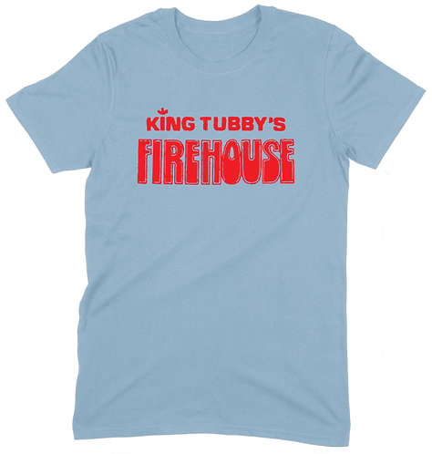 King Tubby's Firehouse T-Shirt - LARGE / LIGHT BLUE / ORGANIC STANDARD