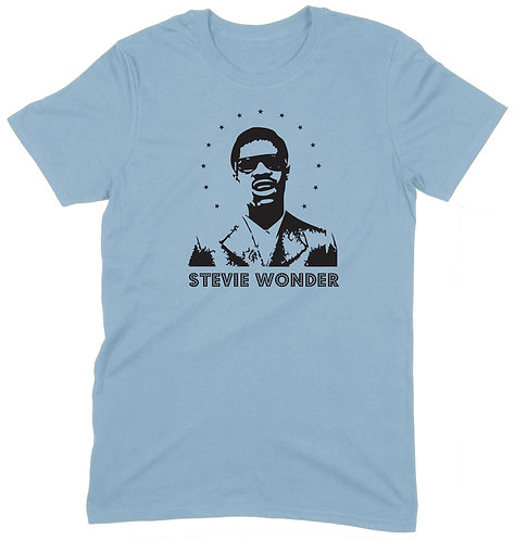 Stevie Wonder T-Shirt - XL / LIGHT BLUE / ORGANIC STANDARD WEIGHT