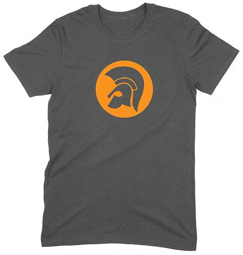Trojan Crown T-Shirt - 2XL / CHARCOAL / ORGANIC STANDARD WEIGHT