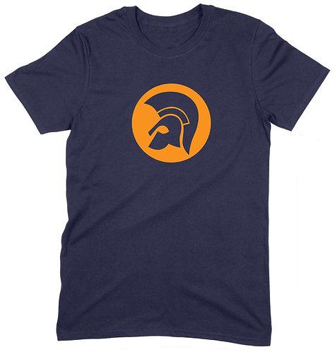 Trojan Crown T-Shirt - MEDIUM / NAVY / STANDARD WEIGHT